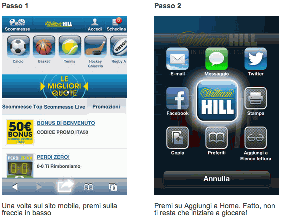 William Hill app mobile