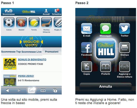 William Hill app mobile