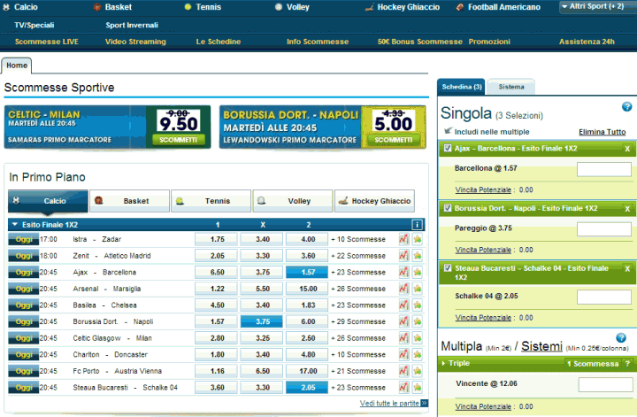 come scommettere su william hill