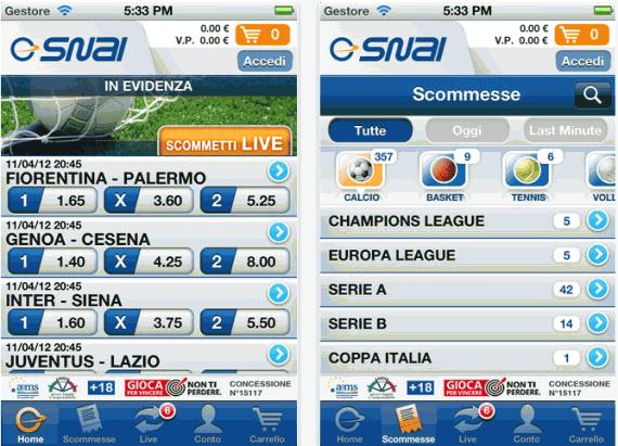 snai mobile sport Codice promozione Snai 1050€ + 9000 in freeroll nel 2015