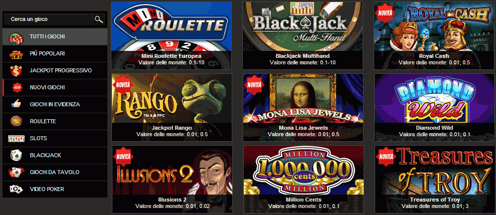 Nuove slot lot machine