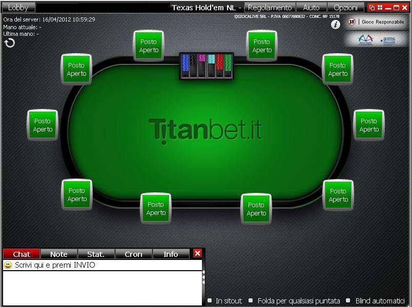 titanbet tavolo di poker