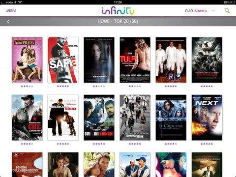 Galleria esempio di film infinity TV