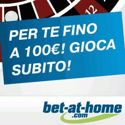Promozione per giocare fino a 100€ nel casino