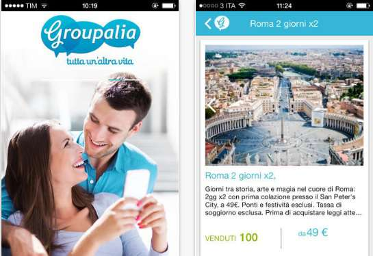 Groupalia mobile app